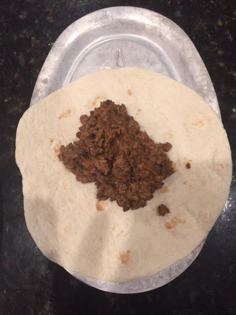 meat in burrito